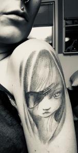 Nickes första tatuering på mig